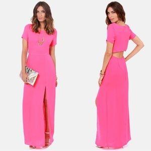 Pink LUSH maxi dress